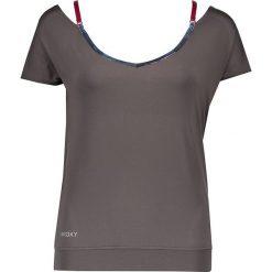 """Koszulka funkcyjna """"Chakra Wakka"""" w kolorze szarobrązowym. Brązowe bluzki sportowe damskie marki Roxy, xs, z materiału. W wyprzedaży za 121,95 zł."""