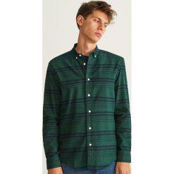 Koszula z bawełny organicznej regular fit - Khaki. Zielone koszule męskie marki QUECHUA, m, z elastanu. Za 119,99 zł.