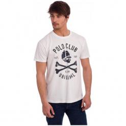 Polo Club C.H..A T-Shirt Męski M Biały. Białe koszulki polo marki Polo Club C.H..A, m. W wyprzedaży za 109,00 zł.