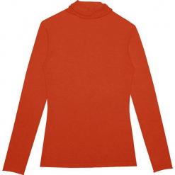 Sweter kaszmirowy w kolorze pomarańczowym. Brązowe swetry klasyczne damskie marki Ateliers de la Maille, z kaszmiru. W wyprzedaży za 363,95 zł.