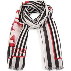 Szal GUESS - Not Coordinated Scarves AW7653 POL03 BLA. Czarne szaliki damskie marki Guess, z aplikacjami. W wyprzedaży za 119,00 zł.