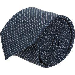 Krawat platinum granatowy classic 209. Niebieskie krawaty męskie Recman. Za 49,00 zł.