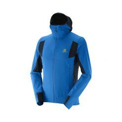 Kurtka Salomon X Alp Smartskin Jkt M Union Blue (379470). Czarne kurtki męskie przeciwdeszczowe marki Salomon, z gore-texu, na sznurówki, outdoorowe, gore-tex. Za 350,99 zł.