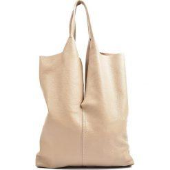 Torebki klasyczne damskie: Skórzana torebka w kolorze fango – (D)42 x (S)38 cm