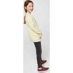Mango Kids - Kardigan dziecięcy Lallo 110-164 cm. Szare swetry dziewczęce marki Mango Kids, z bawełny. W wyprzedaży za 49,90 zł.