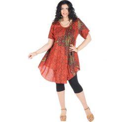 Sukienki: Sukienka w kolorze pomarańczowo-czarnym