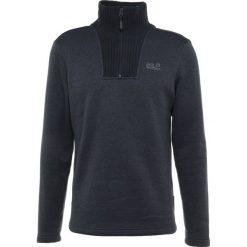 Jack Wolfskin SCANDIC MEN Sweter night blue. Czarne swetry klasyczne męskie marki Jack Wolfskin, l, z poliesteru, z kapturem. Za 459,00 zł.