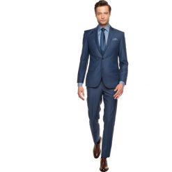Garnitur corbie 310 niebieski slim fit. Niebieskie garnitury Recman, z wełny. Za 199,99 zł.