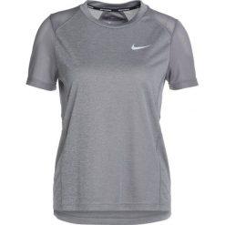 Nike Performance DRY MILER Tshirt basic gunsmoke/heather/reflective silver. Szare topy sportowe damskie marki Nike Performance, xs, z materiału. Za 129,00 zł.