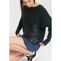 Ciemnozielony Sweter Beyond Doubt. Zielone swetry klasyczne damskie other, na jesień, l. Za 74,99 zł.