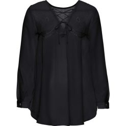Bluzki asymetryczne: Bluzka z ozdobnym sznurowaniem na plecach bonprix czarny