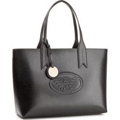 Torebka EMPORIO ARMANI - Y3D099 YH18A 80001  Black. Szare torebki klasyczne damskie marki Emporio Armani, l, z nadrukiem, z bawełny, z okrągłym kołnierzem. Za 949,00 zł.