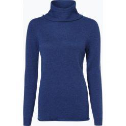 Marie Lund - Damski sweter z wełny merino, niebieski. Niebieskie golfy damskie Marie Lund, l, z dzianiny. Za 229,95 zł.