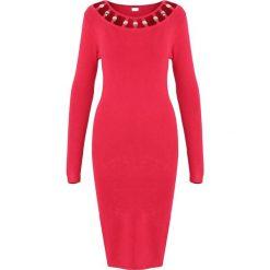Czerwona Sukienka Underline. Czerwone sukienki dzianinowe Born2be, na jesień, m. Za 89,99 zł.