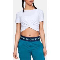 Under Armour Koszulka damska Lightweight Lux Crop Tee biała r. XL (1305484-100). T-shirty damskie Under Armour, xl. Za 171,91 zł.