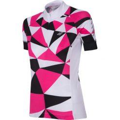 Koszulka rowerowa damska RKD153 - różowy. Czerwone bluzki sportowe damskie 4f, m, z elastanu. Za 169,99 zł.