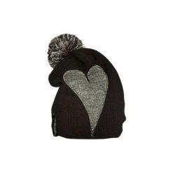 Czapki zimowe damskie: Czapka CHAPOOSIE Gray Heart & Pompon Beanie