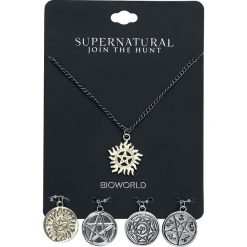 Naszyjniki damskie: Supernatural Multi Sign Charm Naszyjnik srebrny