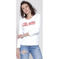 Bluzy damskie: Biało-Czerwona Bluza Girl Rule