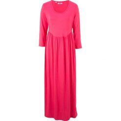 Sukienki: Sukienka shirtowa z rękawami 3/4 bonprix różowy hibiskus