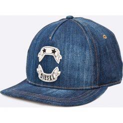 Diesel - Czapka. Szare czapki z daszkiem męskie Diesel, z bawełny. W wyprzedaży za 159,90 zł.