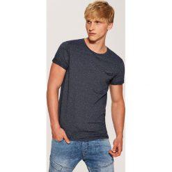 T-shirt w prążki - Granatowy. Szare t-shirty męskie marki House, l, z bawełny. Za 39,99 zł.