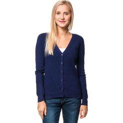 Kardigan w kolorze granatowym. Niebieskie swetry rozpinane męskie marki William de Faye, m, z kaszmiru. W wyprzedaży za 150,95 zł.