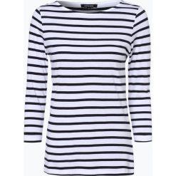 More & More - Damska koszulka z długim rękawem, beżowy. Brązowe t-shirty damskie More & More, w paski, z bawełny, z klasycznym kołnierzykiem. Za 119,95 zł.