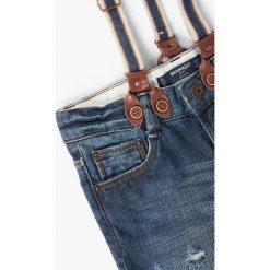 Mango Kids - Jeansy dziecięce Deham 110-164 cm. Niebieskie jeansy chłopięce Mango Kids, z aplikacjami. W wyprzedaży za 69,90 zł.
