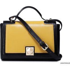 Torebki klasyczne damskie: Modna kontrastująca torebka damska Żółta