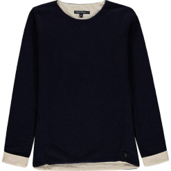 Bluza w kolorze granatowym. Białe bluzy dziewczęce rozpinane marki Marc O'Polo Junior, z nadrukiem, z okrągłym kołnierzem, z długim rękawem. W wyprzedaży za 145,95 zł.