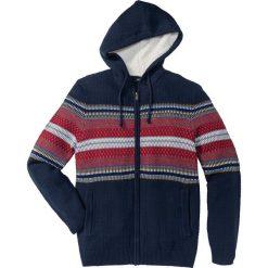 Kardigany męskie: Sweter rozpinany z kapturem Regular Fit bonprix ciemnoniebieski
