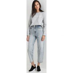 Calvin Klein Jeans INSTITUTIONAL LOGO SWEATSHIRT Bluza light grey heather. Szare bluzy damskie Calvin Klein Jeans, s, z bawełny. Za 399,00 zł.