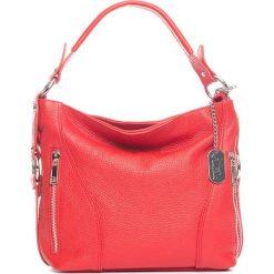 Torebki klasyczne damskie: Skórzana torebka w kolorze czerwonym – 32 x 25 x 10 cm