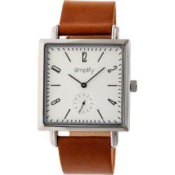 """Zegarki męskie: Zegarek kwarcowy """"the 5000"""" w kolorze brązowo-srebrno-białym"""