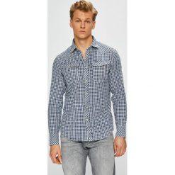 G-Star Raw - Koszula. Szare koszule męskie na spinki marki G-Star RAW, l, w kratkę, z bawełny, z klasycznym kołnierzykiem, z długim rękawem. W wyprzedaży za 479,90 zł.