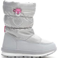 Szare Śniegowce Vitality. Szare kozaki dziewczęce marki Born2be, z materiału, z okrągłym noskiem, na platformie. Za 74,99 zł.