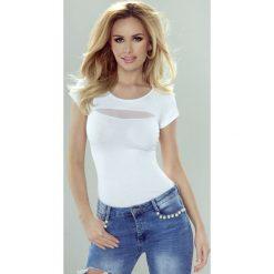Damska bawełniana koszulka Gala. Szare bluzki z odkrytymi ramionami marki Astratex, z bawełny. Za 49,99 zł.