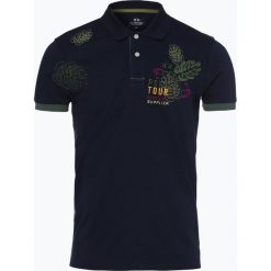 La Martina - Męska koszulka polo, niebieski. Niebieskie koszulki polo La Martina, m, z nadrukiem. Za 699,95 zł.