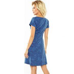Isabel Sukienka TRAPEZOWA z kieszonkami - JEANS JASNY NIEBIESKI. Niebieskie sukienki hiszpanki numoco, s, z jeansu, trapezowe. Za 149,99 zł.