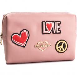 Kosmetyczka LOVE MOSCHINO - JC5300PP17LJ0600 Rosa. Czerwone kosmetyczki damskie marki Love Moschino, ze skóry ekologicznej. Za 339,00 zł.