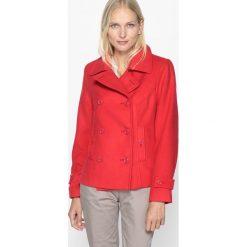 Płaszcze damskie pastelowe: Płaszcz typu caban, kołnierz ze stójką