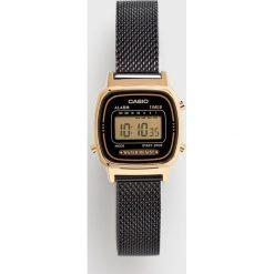 Casio - Zegarek LA670WEMB -1EF. Czarne zegarki męskie marki Fossil, szklane. Za 329,90 zł.