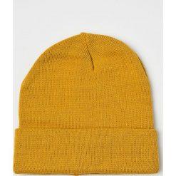 Blend - Czapka. Pomarańczowe czapki zimowe męskie Blend, na zimę, z dzianiny. Za 39,90 zł.