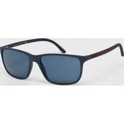 Polo Ralph Lauren - Okulary 0PH4092. Brązowe okulary przeciwsłoneczne męskie marki Polo Ralph Lauren, z materiału, prostokątne. Za 769,90 zł.