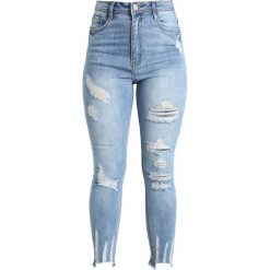 Missguided Petite SINNER HIGHWAISTED AUTHENTIC RIPPED  Jeans Skinny Fit blue. Niebieskie jeansy damskie Missguided Petite, petite. Za 169,00 zł.