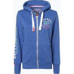 Bluzy damskie: Superdry - Damska bluza rozpinana, niebieski