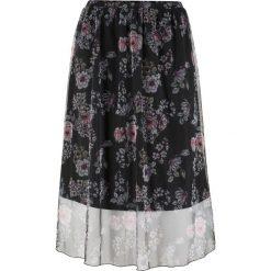 Spódnica siatkowa w kwiaty bonprix czarno-różowy z nadrukiem. Czarne spódniczki bonprix, w kwiaty. Za 89,99 zł.