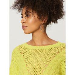 Swetry damskie: Sweter z bawełny - Zielony