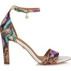 Rzymianki damskie: Multikolorowe sandały damskie